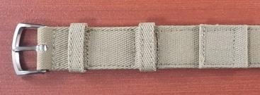 米軍 コットンベルト 未使用品 ワンピースタイプ カーキ 16mm