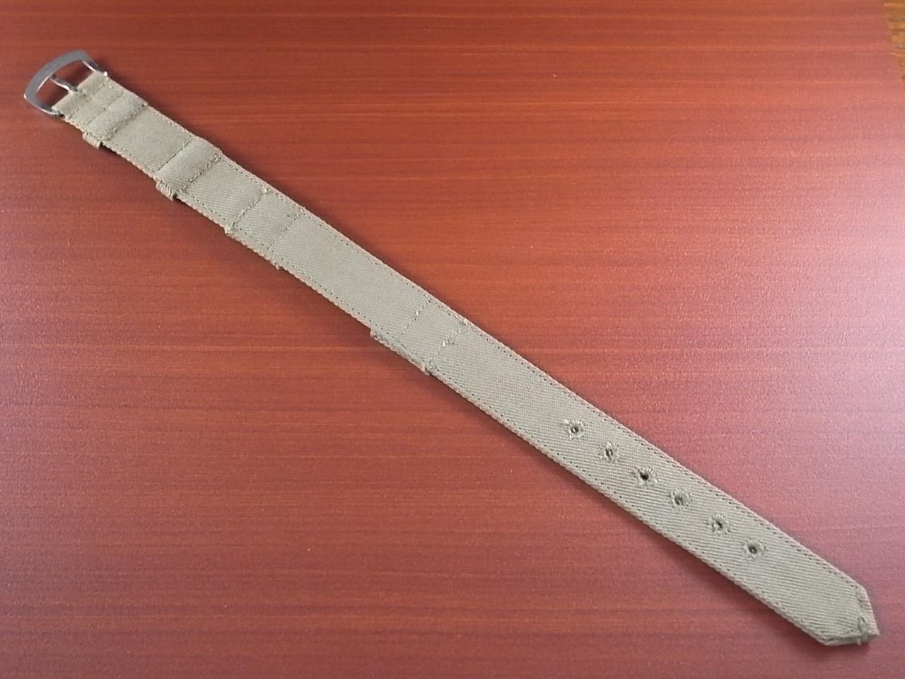 米軍 コットンベルト 未使用品 ワンピースタイプ カーキ 16mmの写真2枚目
