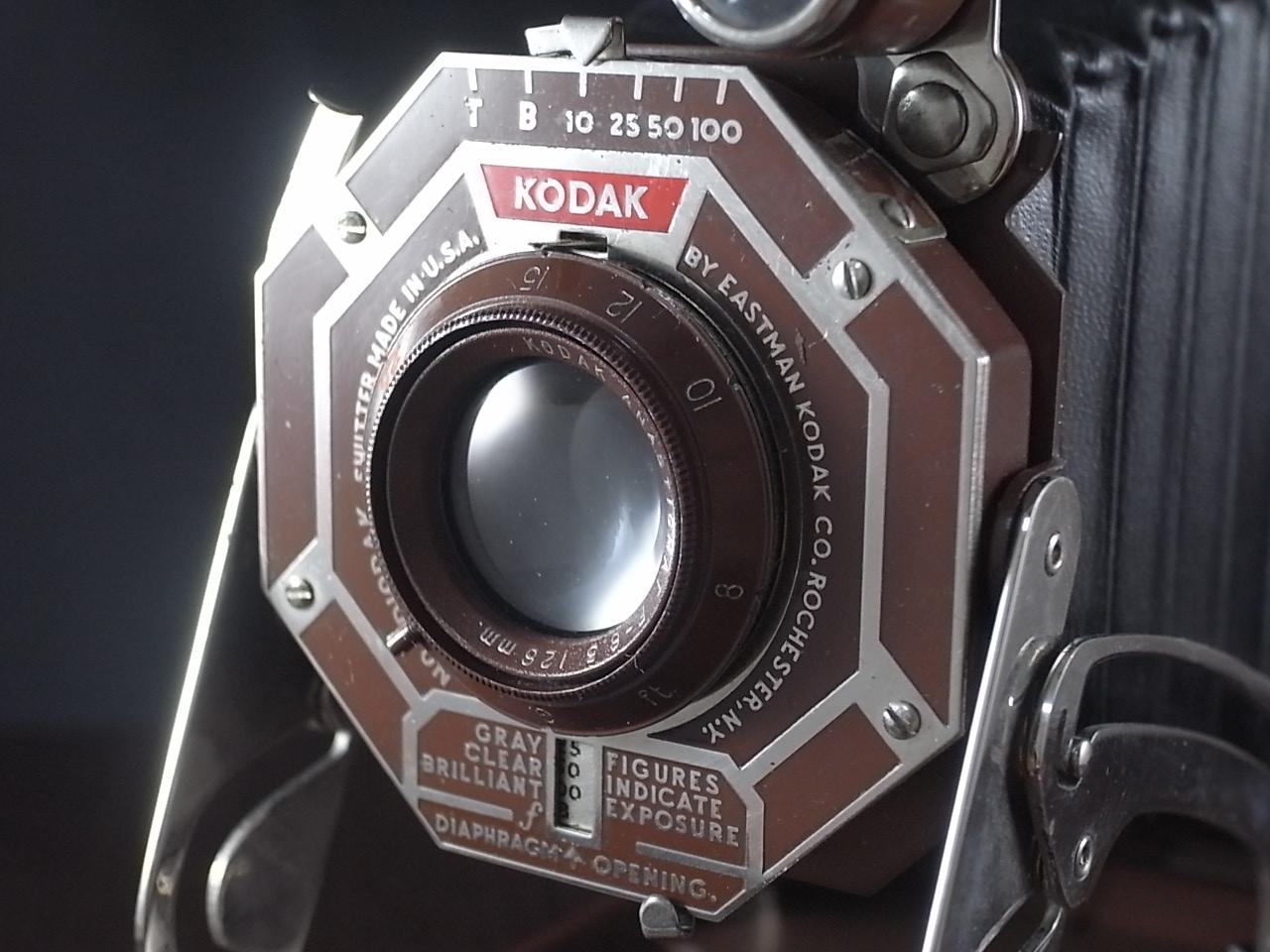 コダック アールデコ 蛇腹カメラ SIX-16 ブラウンの写真2枚目