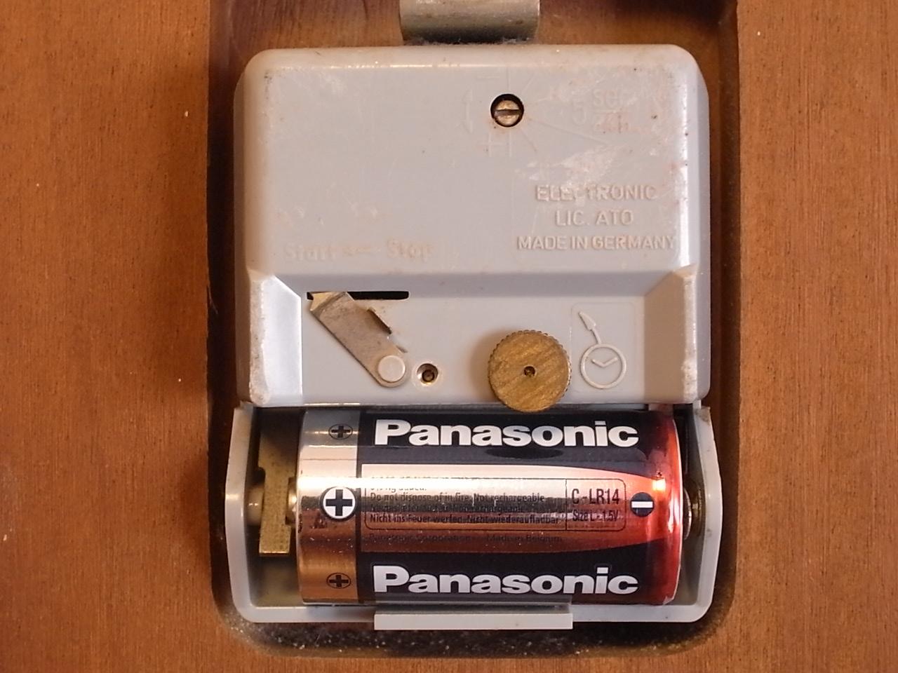 ユンハンス 木製ウォールクロック エレクトロニックの写真6枚目