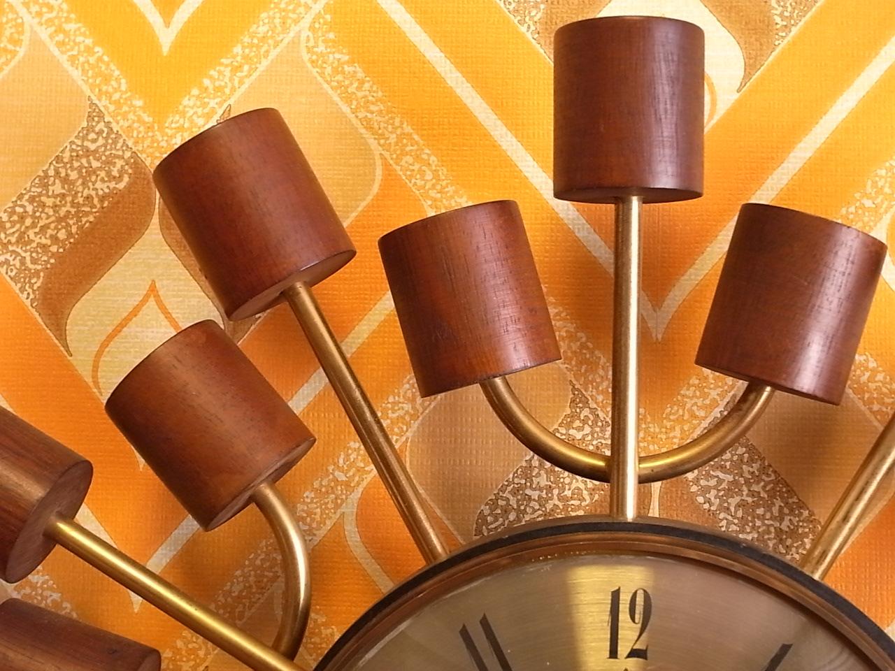 スミス 英国ブランド 木製 ウォールクロック クオーツムーブメントの写真3枚目
