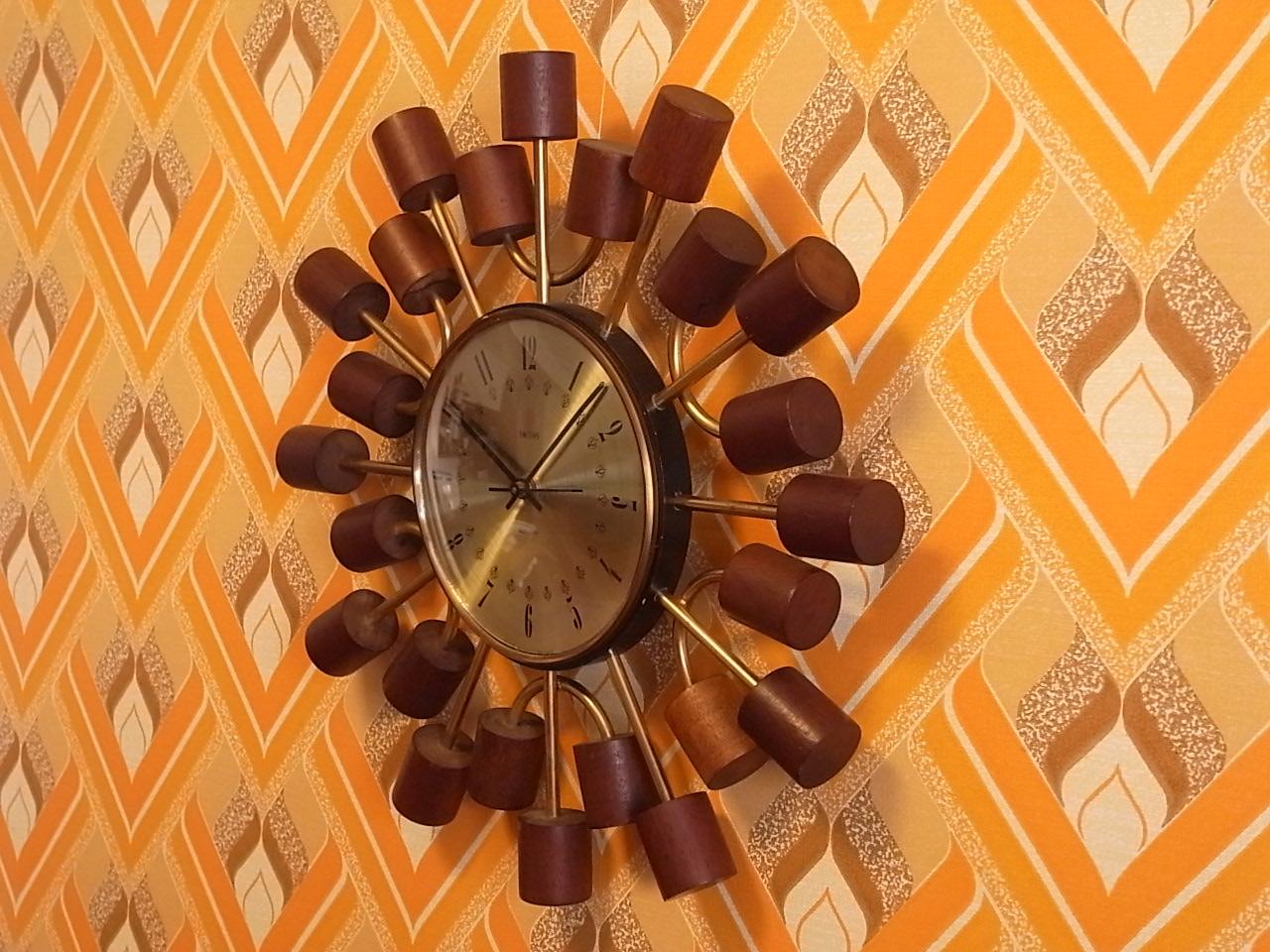 スミス 英国ブランド 木製 ウォールクロック クオーツムーブメントの写真4枚目