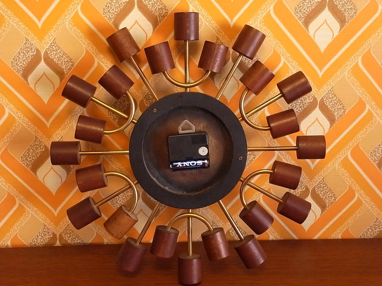 スミス 英国ブランド 木製 ウォールクロック クオーツムーブメントの写真5枚目