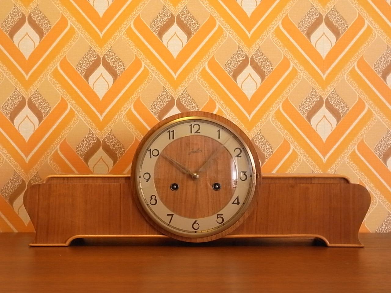 ユンハンス チャイミング木製クロック アールデコのメイン写真