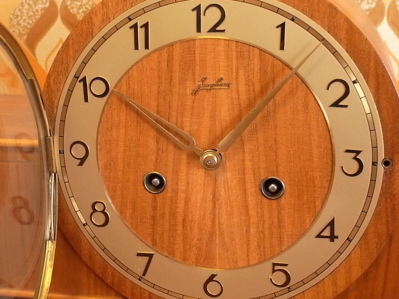 ユンハンス チャイミング木製クロック アールデコの写真3枚目