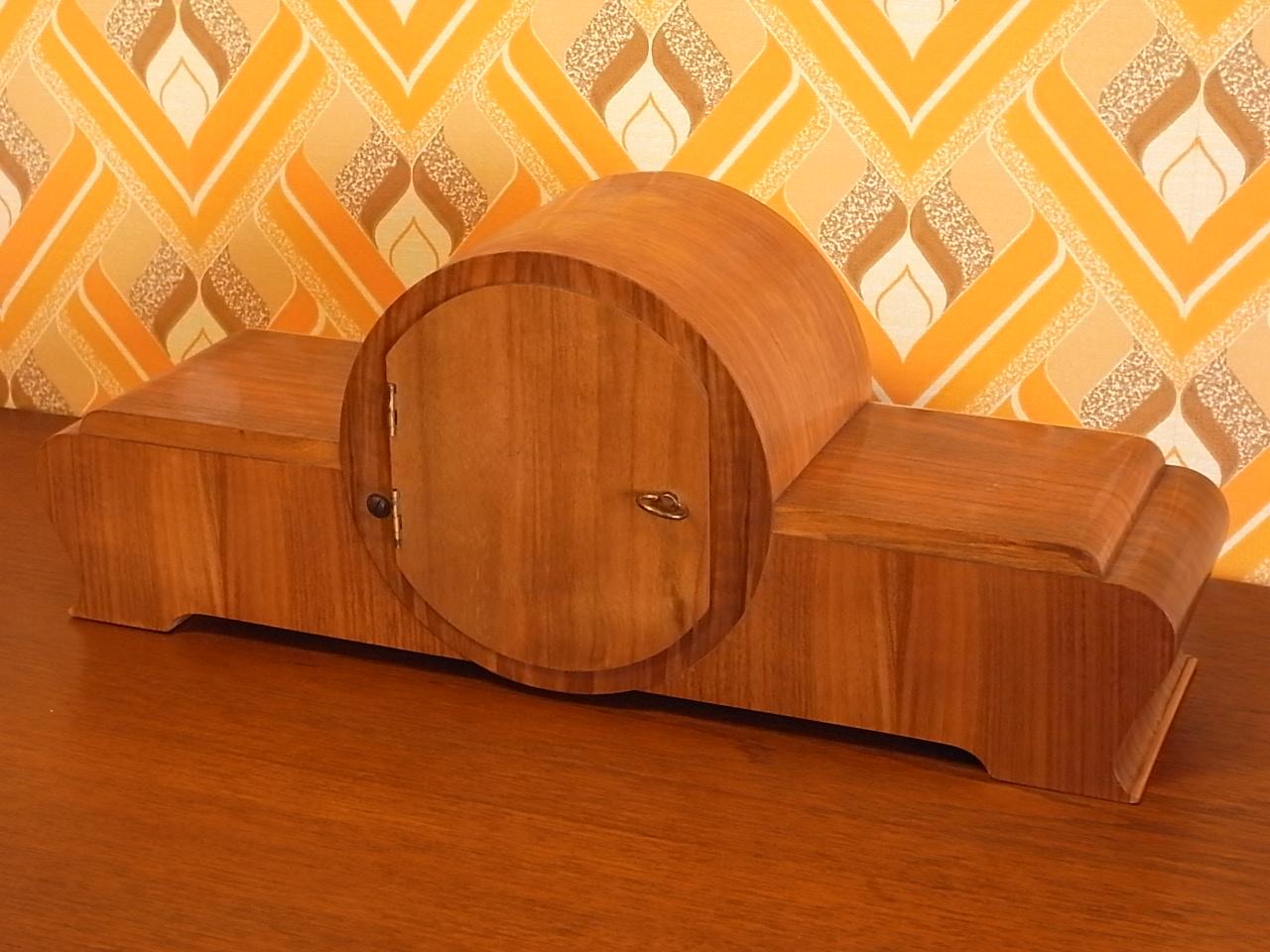 ユンハンス チャイミング木製クロック アールデコの写真4枚目
