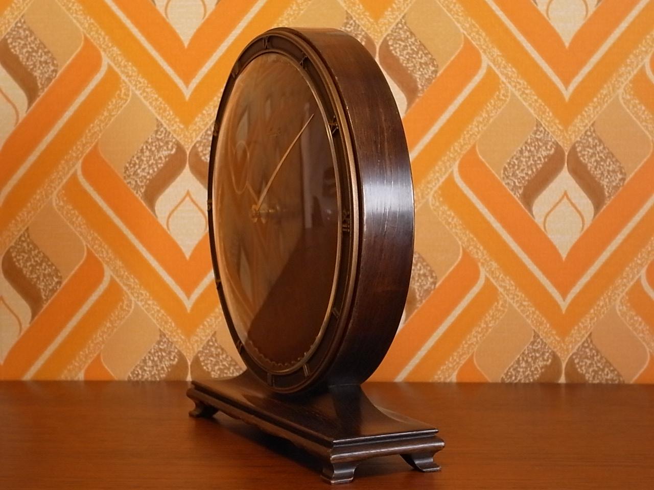 キンツレ アールデコ 木製クロック 1930年代の写真3枚目