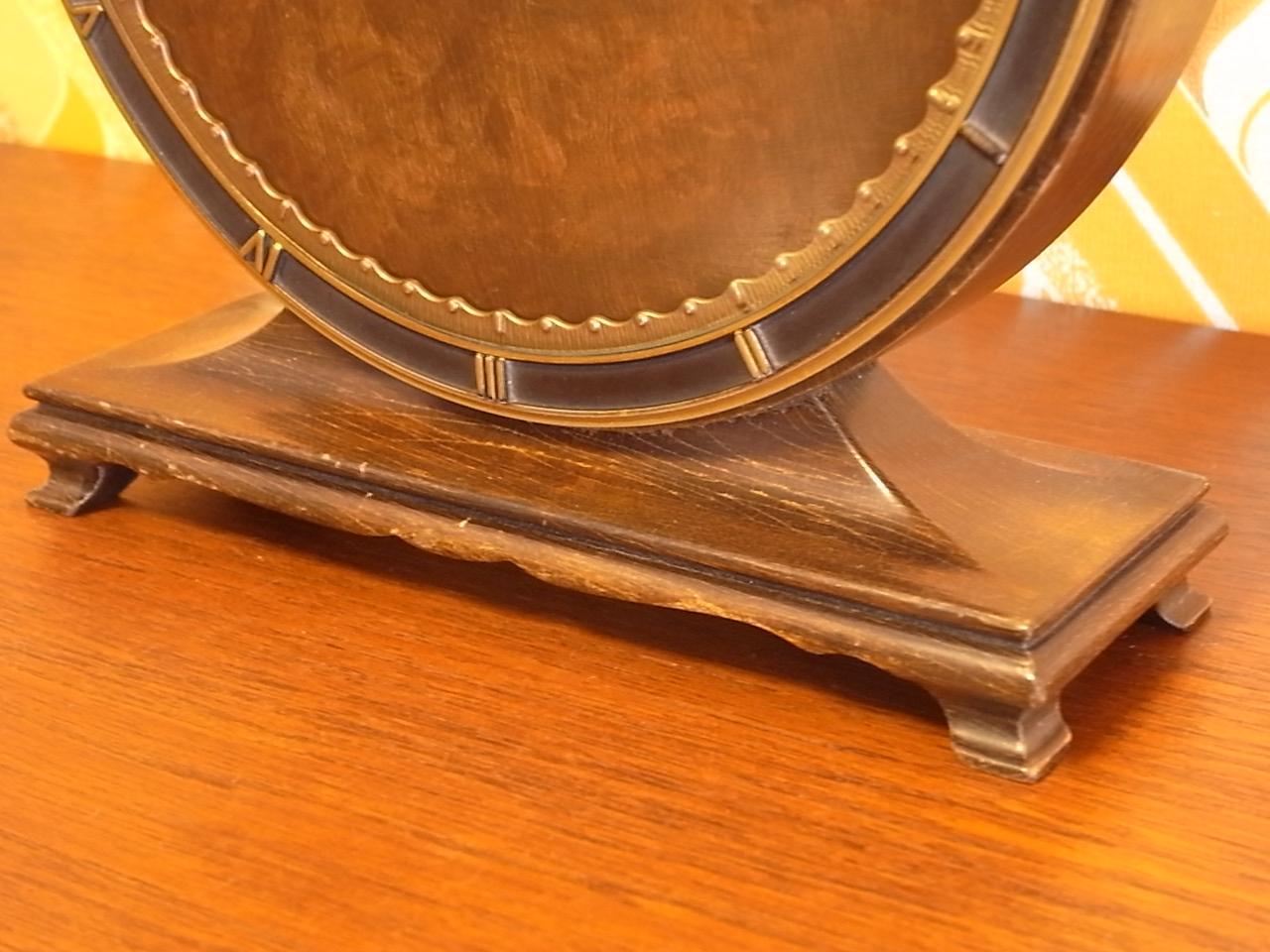 キンツレ アールデコ 木製クロック 1930年代の写真5枚目