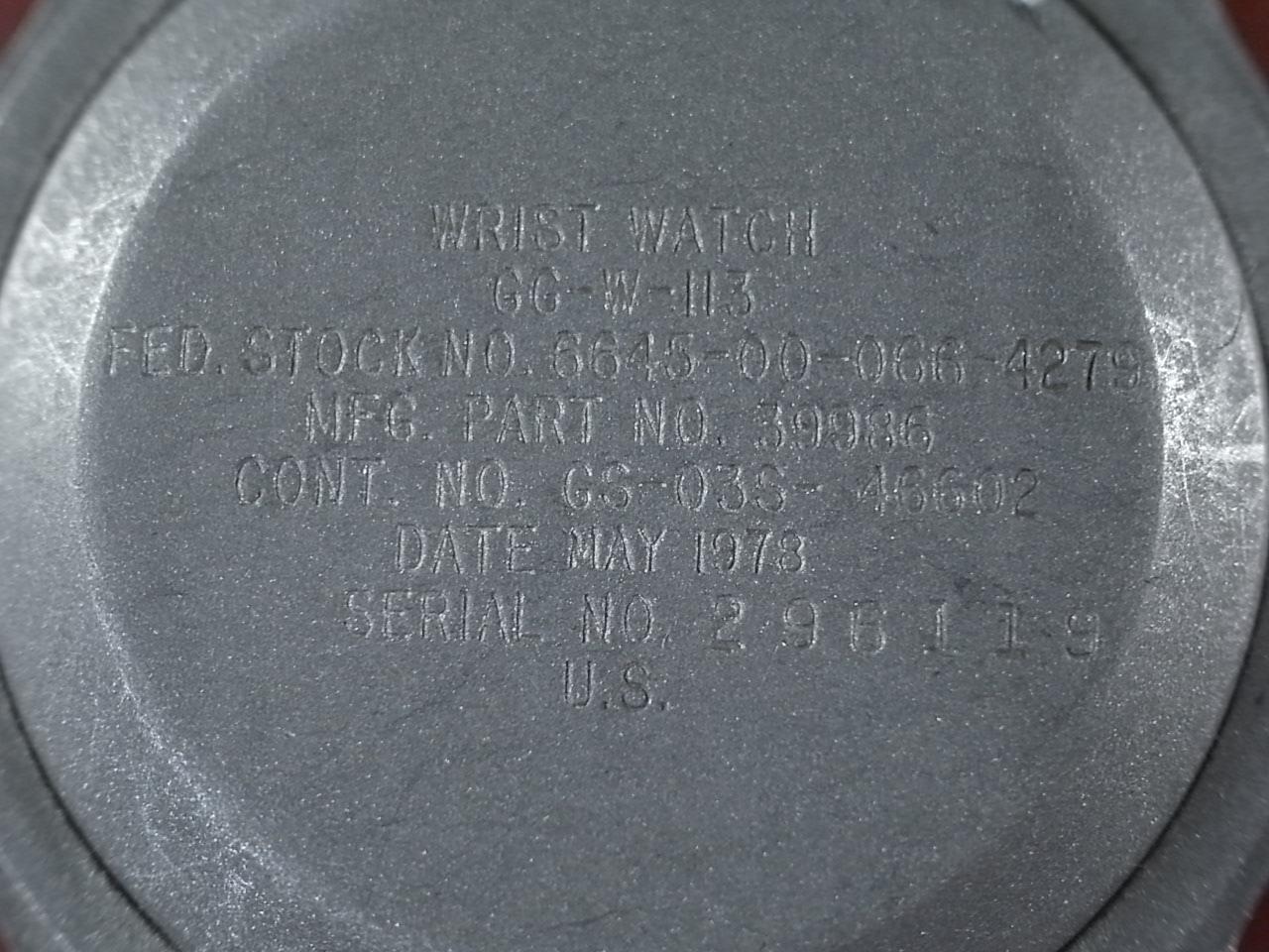 ハミルトン ミリタリー 米陸軍用 MIL-GG-W-113   1978年の写真4枚目