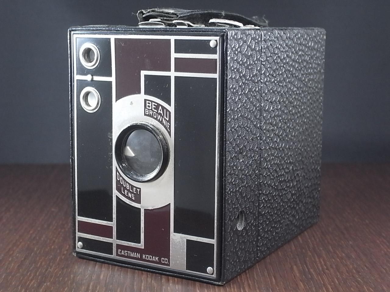 コダック No.2 ブローニー アールデコカメラ ブラックのメイン写真