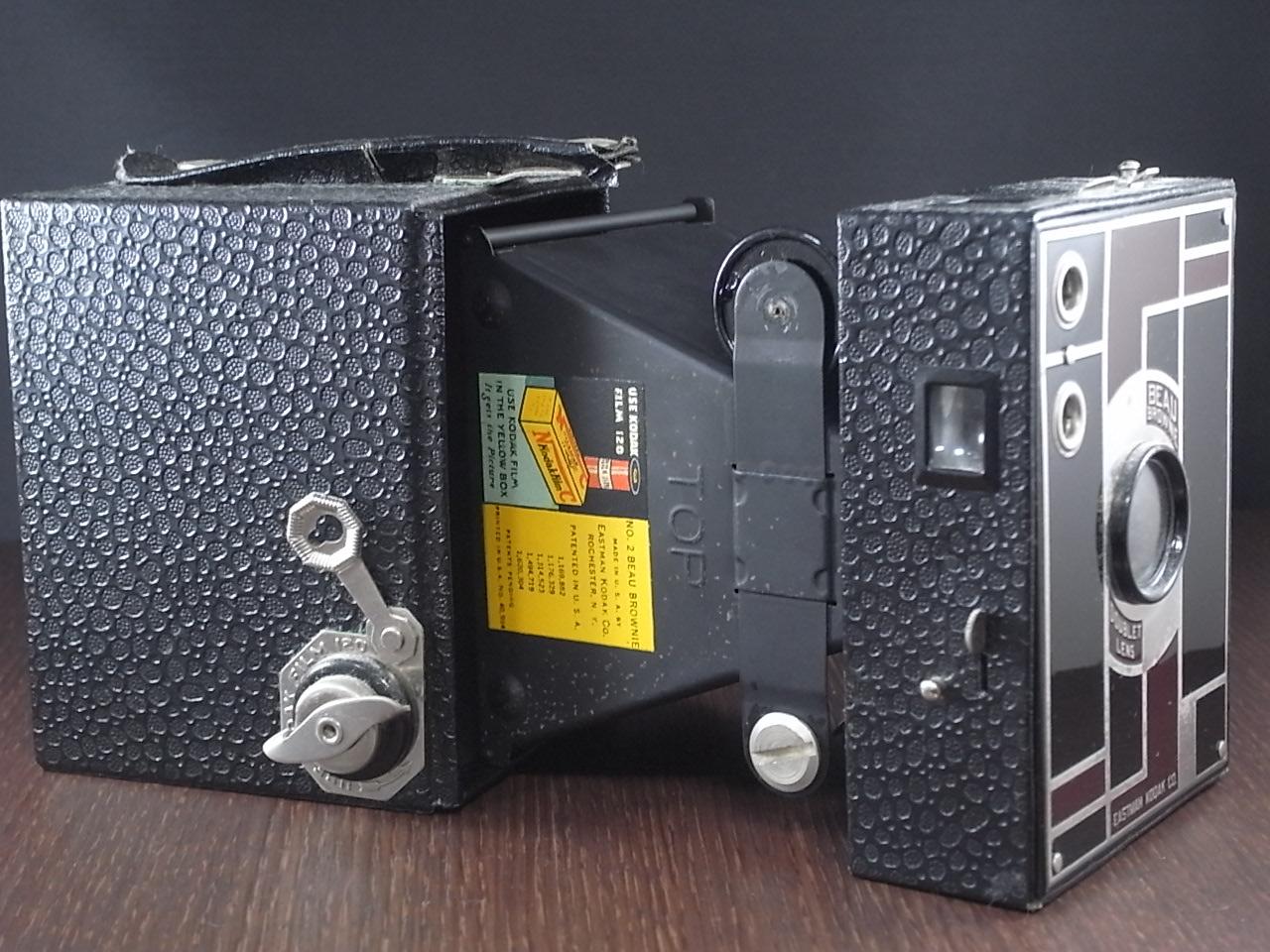 コダック No.2 ブローニー アールデコカメラ ブラックの写真4枚目