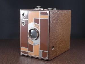 コダック No.2 ブローニー アールデコカメラ ブラウン