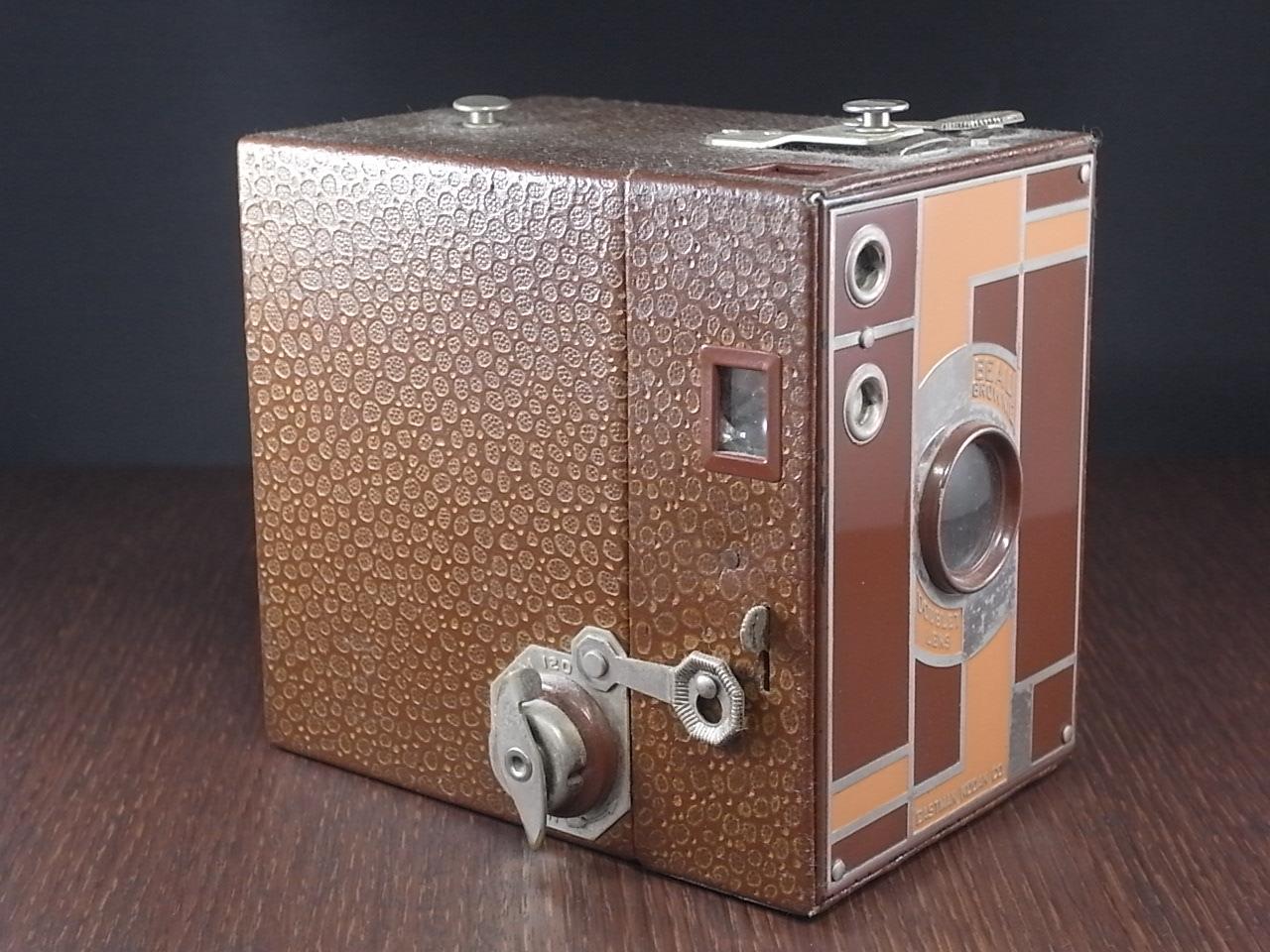 コダック No.2 ブローニー アールデコカメラ ブラウンの写真2枚目