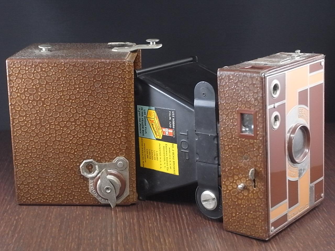 コダック No.2 ブローニー アールデコカメラ ブラウンの写真5枚目