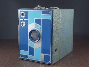 コダック No.2 ブローニー アールデコカメラ ブルー
