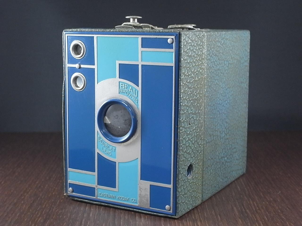 コダック No.2 ブローニー アールデコカメラ ブルーのメイン写真