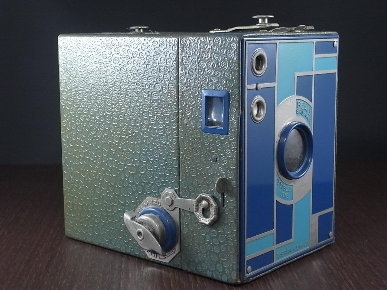 コダック No.2 ブローニー アールデコカメラ ブルーの写真2枚目