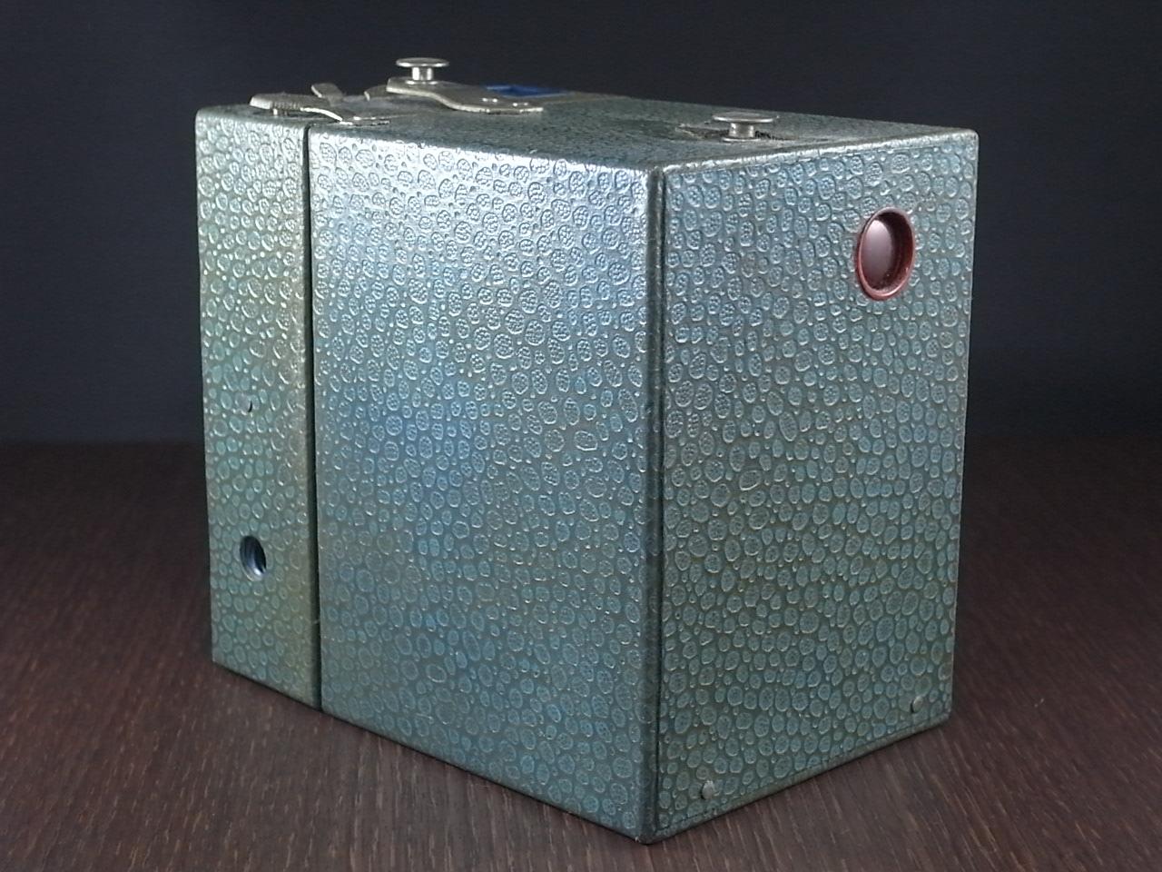 コダック No.2 ブローニー アールデコカメラ ブルーの写真3枚目