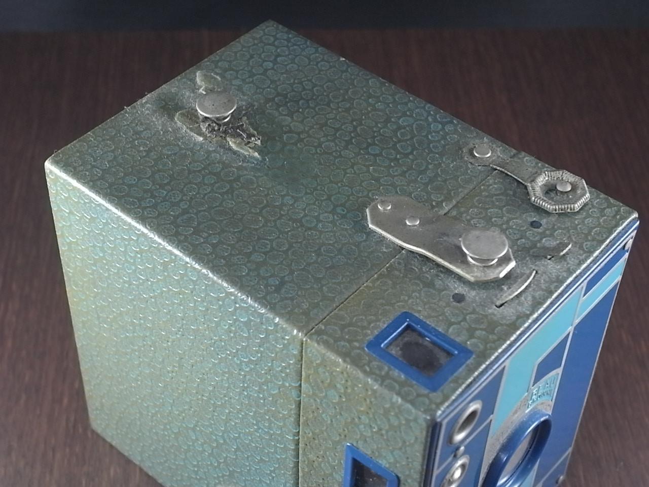 コダック No.2 ブローニー アールデコカメラ ブルーの写真4枚目