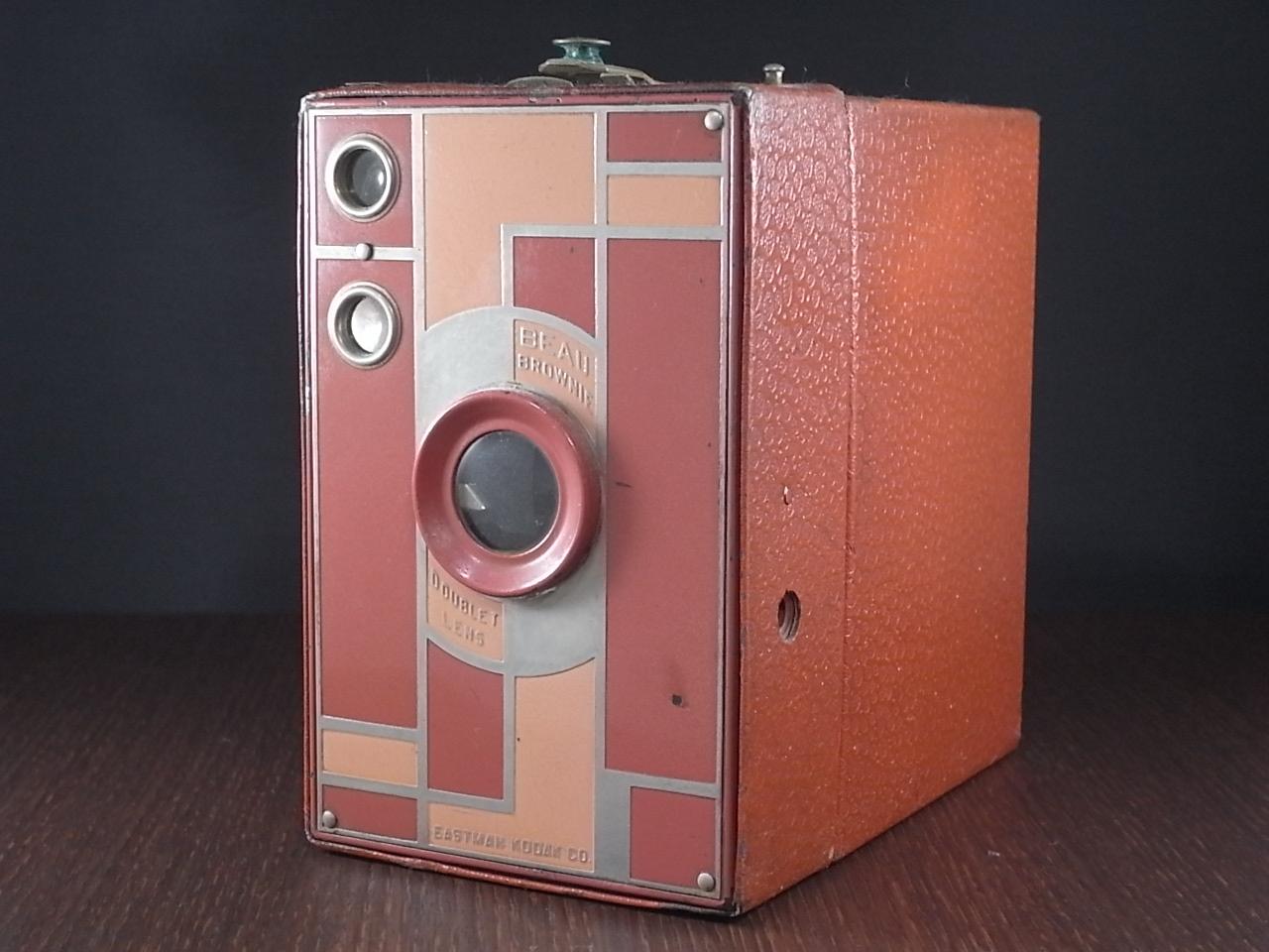 コダック No.2A ブローニー アールデコカメラ ローズのメイン写真