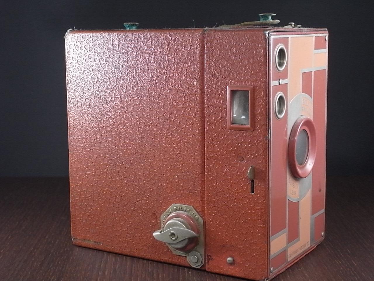 コダック No.2A ブローニー アールデコカメラ ローズの写真2枚目