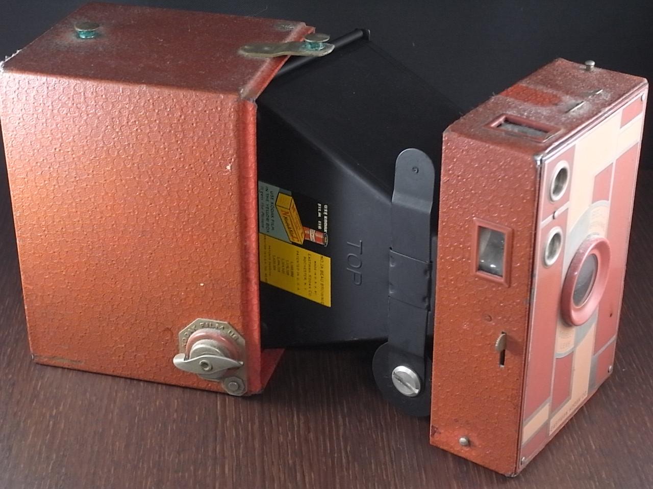 コダック No.2A ブローニー アールデコカメラ ローズの写真5枚目