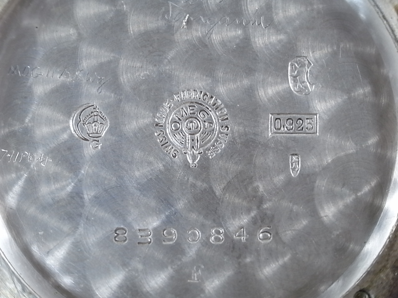 オメガ シルバー クッションケース ポーセリンダイアル Cal.26.5 SOBの写真6枚目