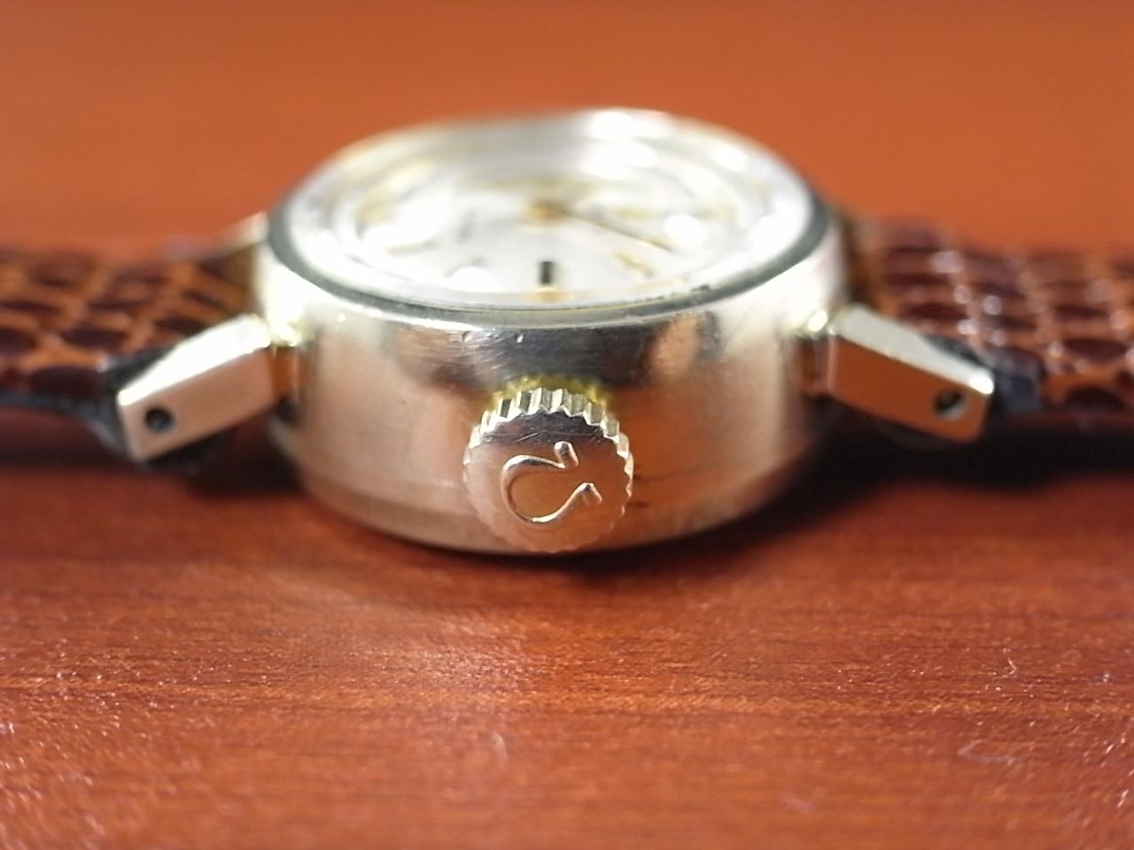 オメガ レディス レディマチック 金無垢 14KYG カットガラス 1960年代の写真3枚目