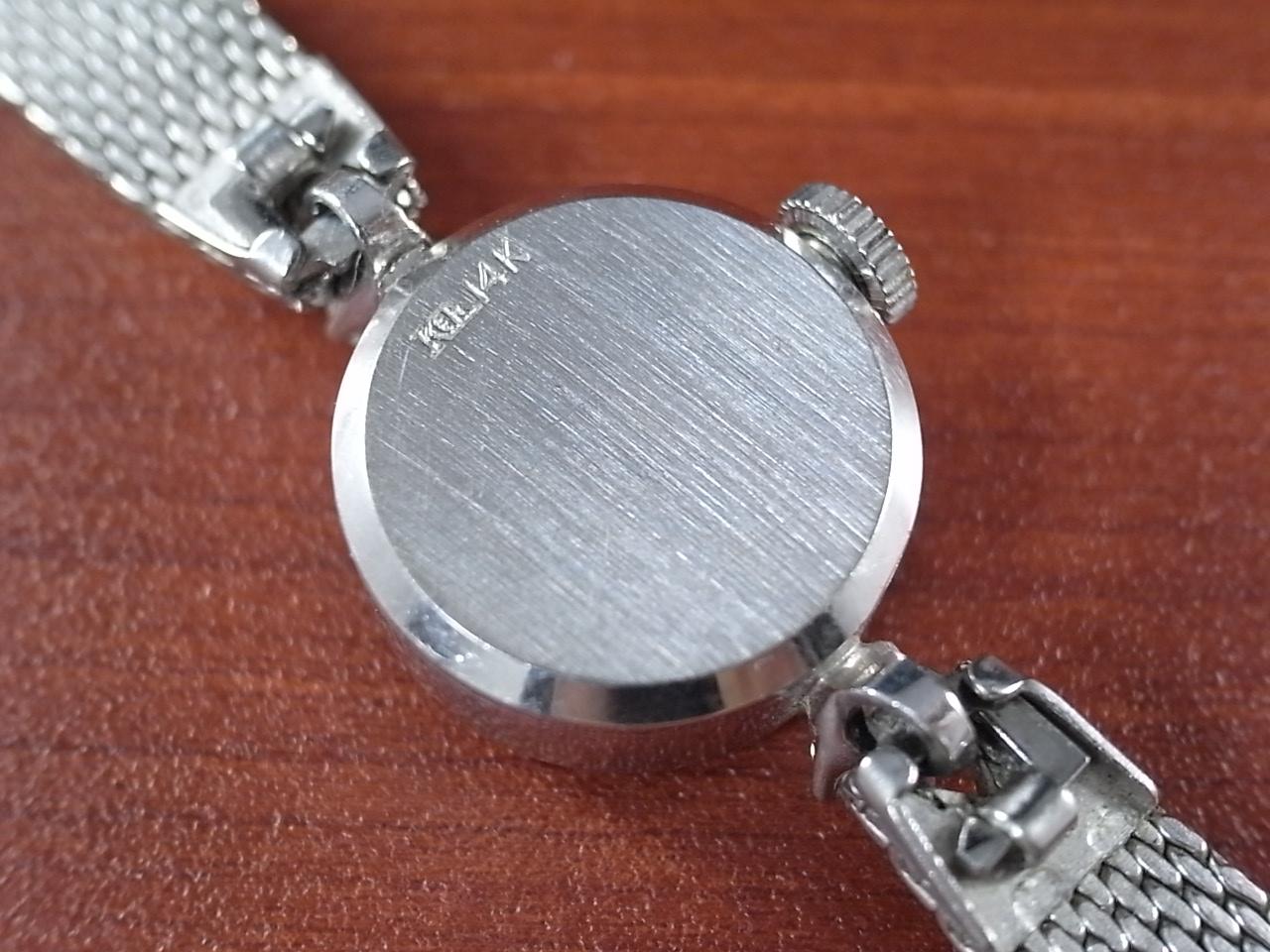 ロンジン レディス 14金無垢 ホワイトゴールド カットガラス ダイヤモンド の写真4枚目