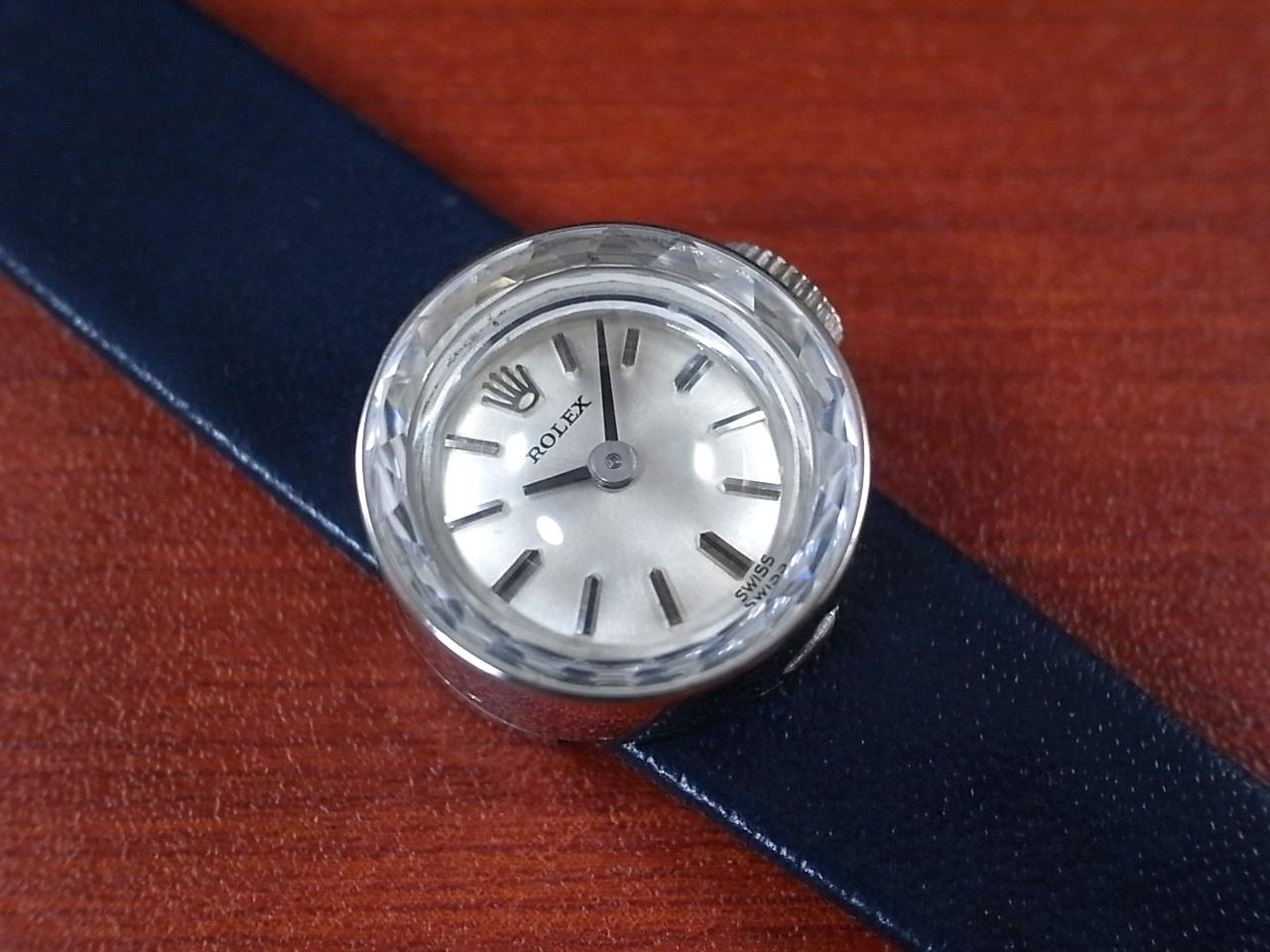 ロレックス レディス カメレオン 金無垢 14KWG カットガラス オリジナルベルト・BOX付のメイン写真