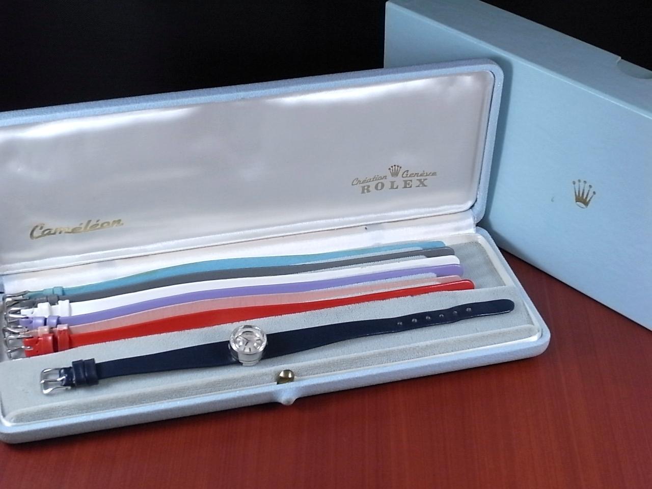 ロレックス レディス カメレオン 金無垢 14KWG カットガラス オリジナルベルト・BOX付の写真2枚目