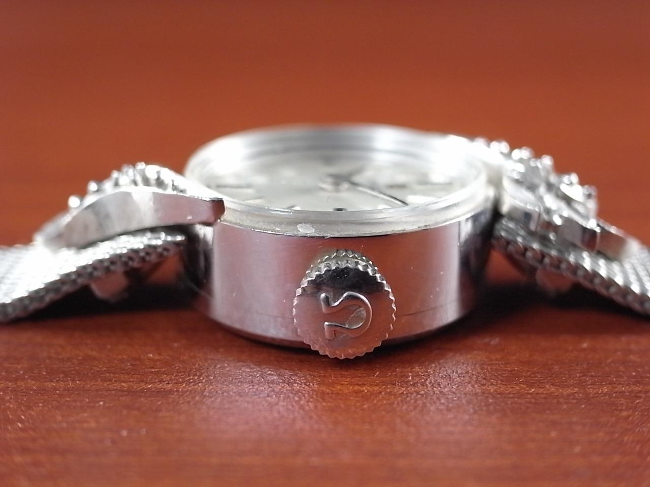 オメガ レディス 金無垢 14KWG ダイヤモンド GFメッシュブレスの写真3枚目