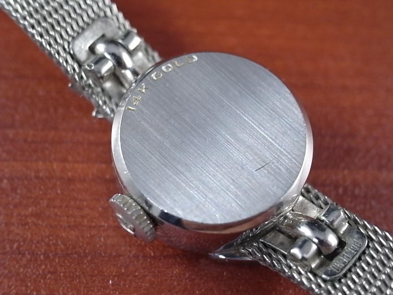 オメガ レディス 金無垢 14KWG ダイヤモンド GFメッシュブレスの写真4枚目