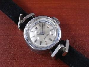 ロレックス レディス 18KWG プレシジョン カットガラス Cal.1400 1960年代