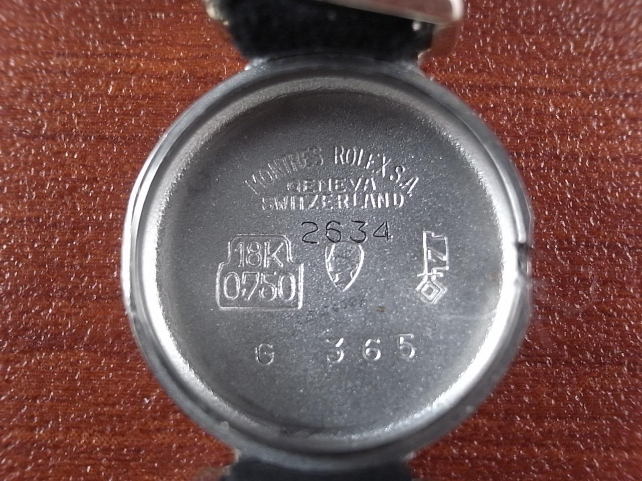 ロレックス レディス 18KWG プレシジョン カットガラス Cal.1400 1960年代の写真6枚目