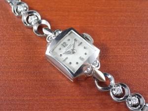 ジラール・ペルゴ レディス 14KWG ダイヤモンド