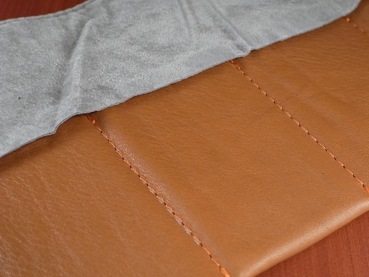 本革時計ケース 携帯タイプ 6本用 イタリア製 茶 オレンジステッチの写真4枚目