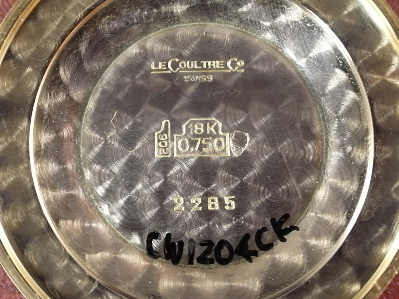 ジャガールクルト 18KYG ラウンドケース Cal.K800/C ミントコンディション 1950年代の写真6枚目