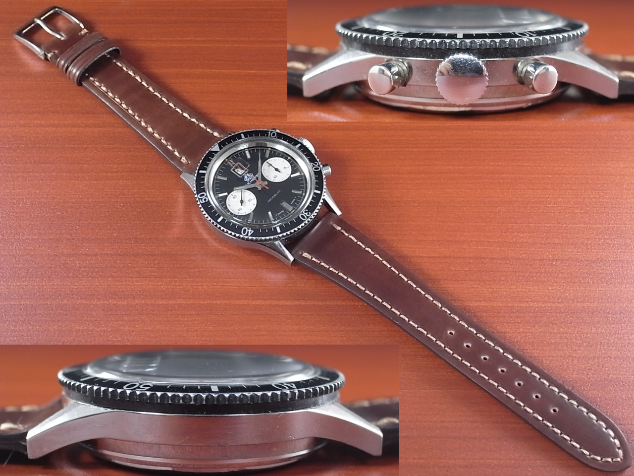 ブッフェラー BUCHERER クロノグラフ 2レジスター ブラックミラーDL 1970年代の写真3枚目