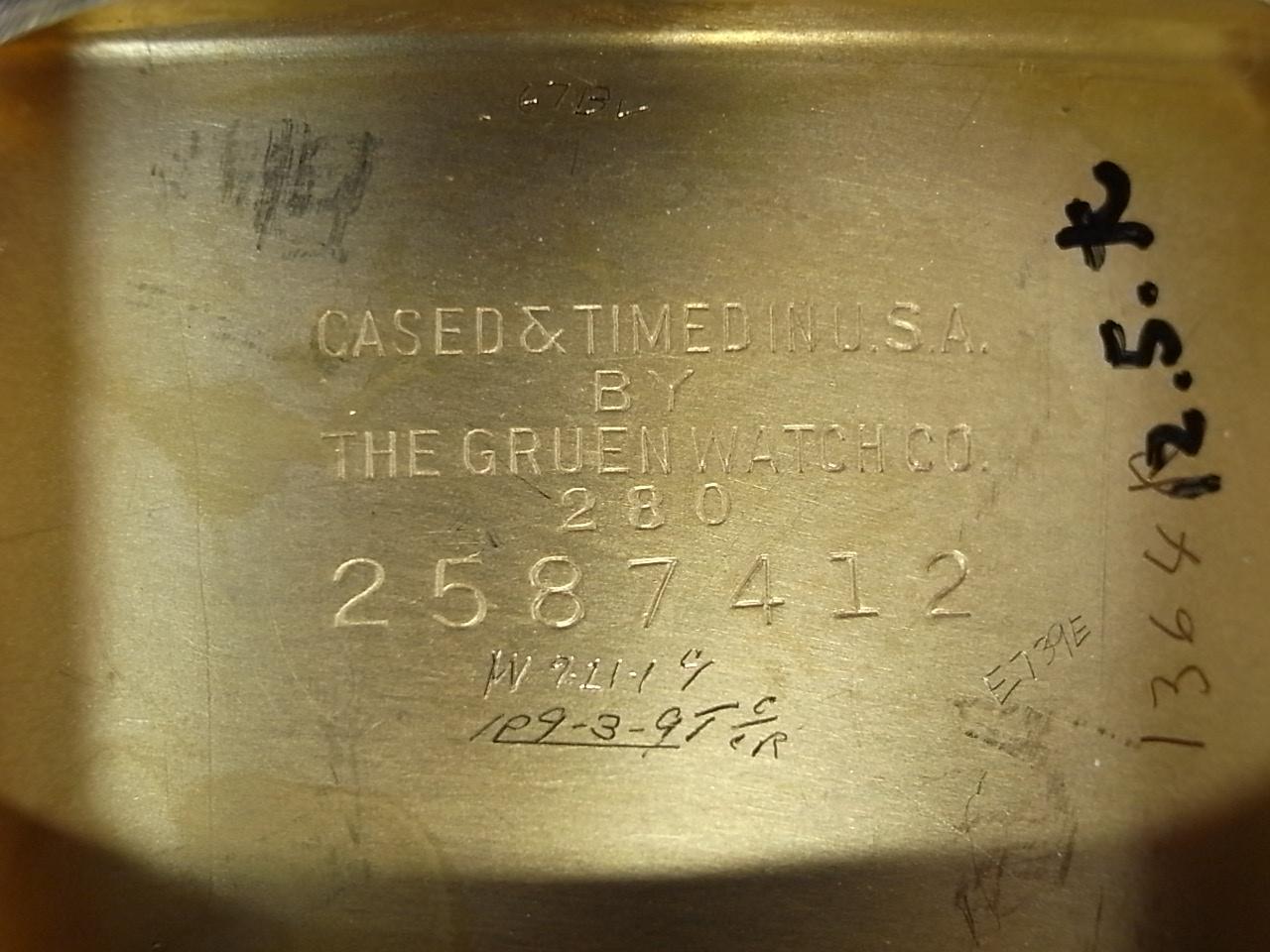 グリュエン カーベックス ロングレクタンギュラー 2トーンダイアル 1930年代の写真6枚目