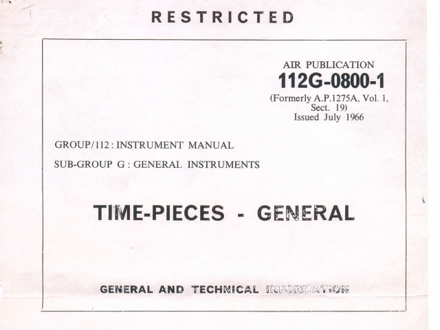 TIME-PIECES-GENERAL  Royal Air Force