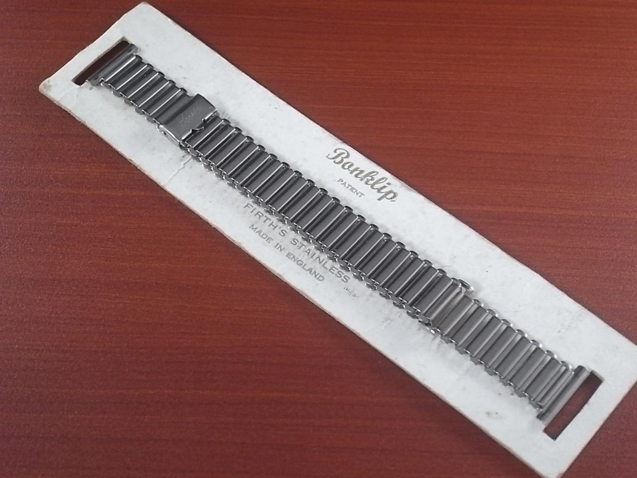 ボンクリップ バンブーブレス 筆記体ロゴ 未使用 N.O.S. 13mmタイプ 16mmのメイン写真