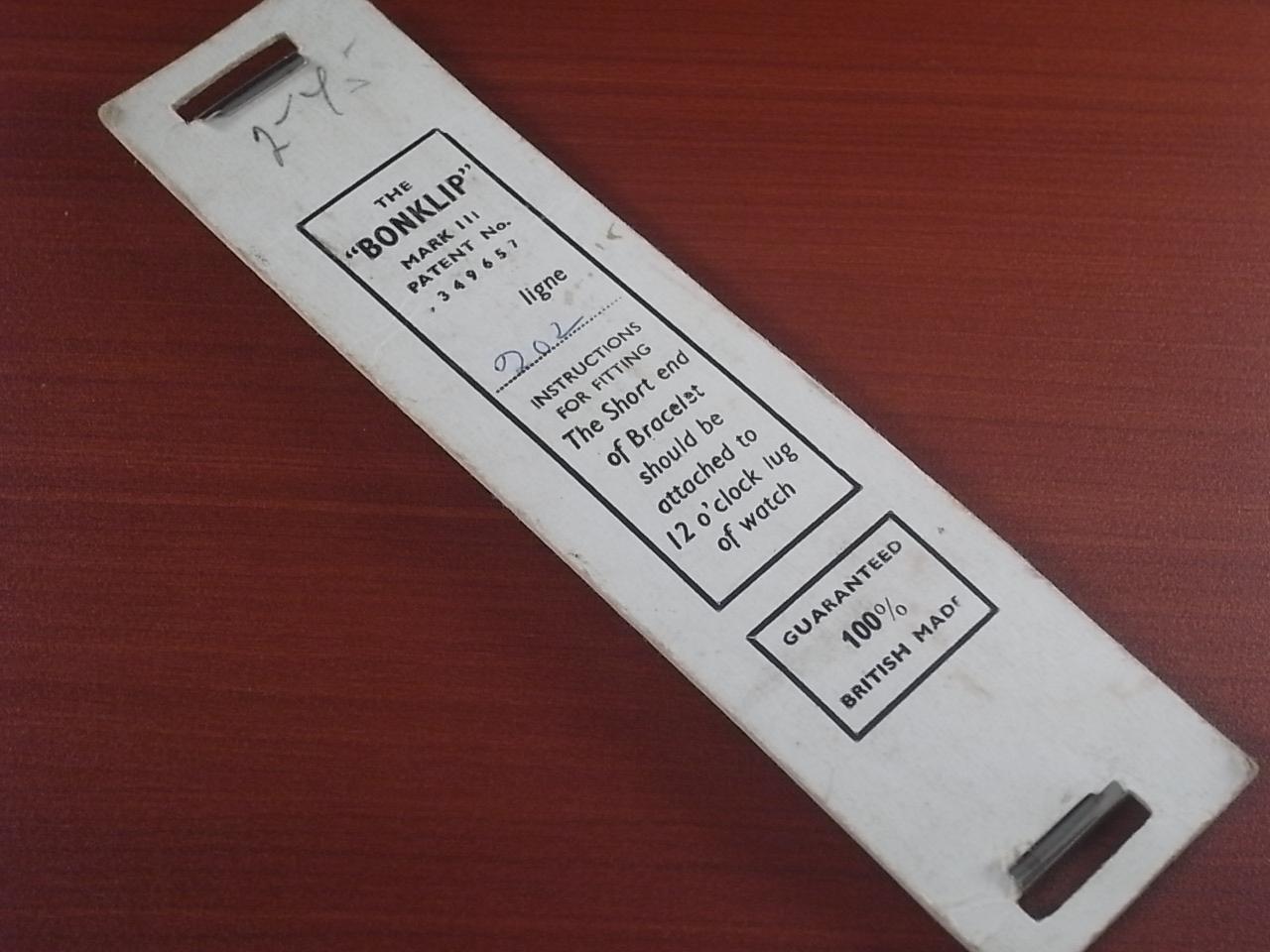 ボンクリップ バンブーブレス 筆記体ロゴ 未使用 N.O.S. 13mmタイプ 16mmの写真6枚目