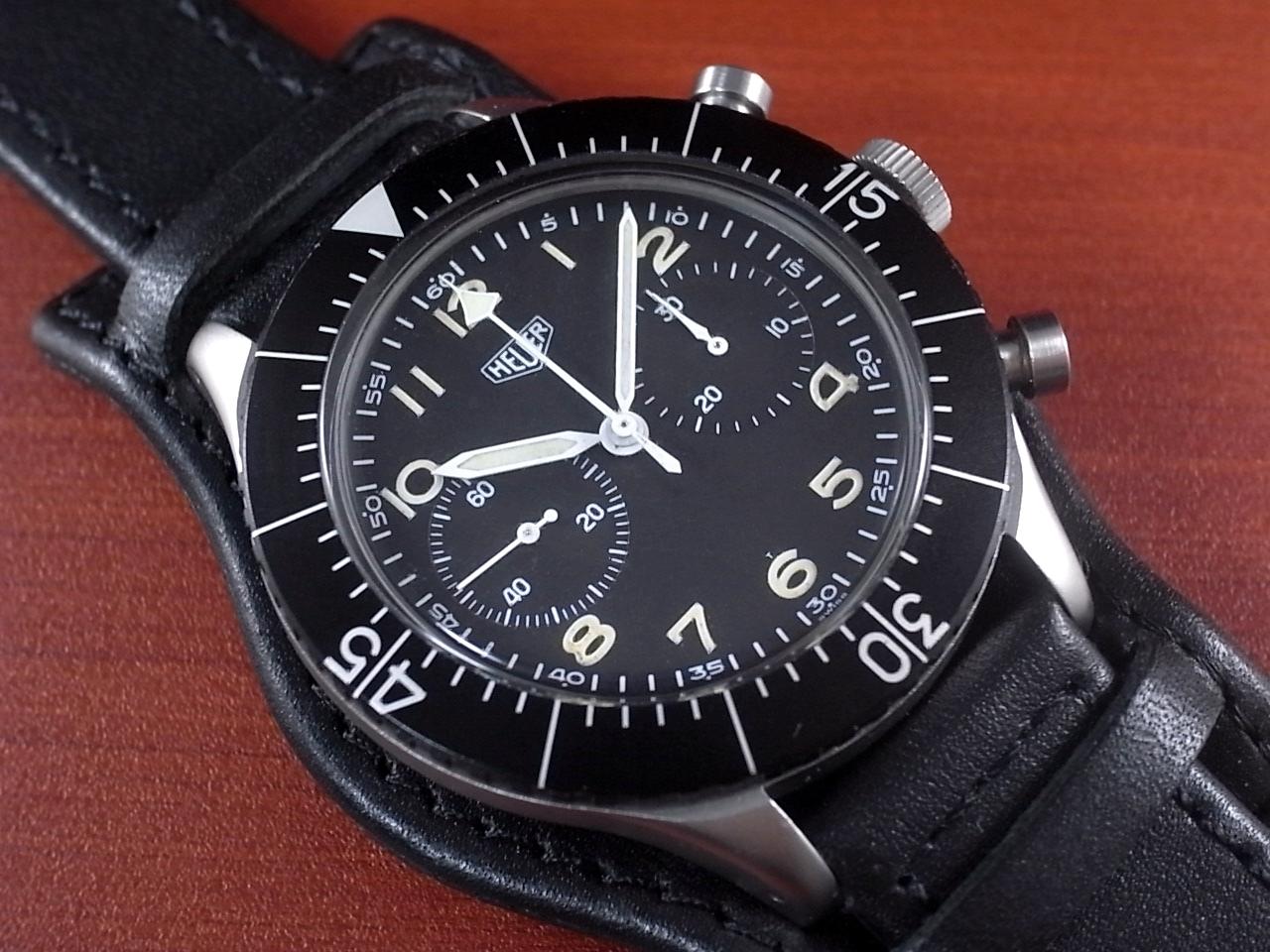 ホイヤー 軍用時計 西ドイツ空軍 Type.1550 SG フライバッククロノグラフ 1960年代のメイン写真