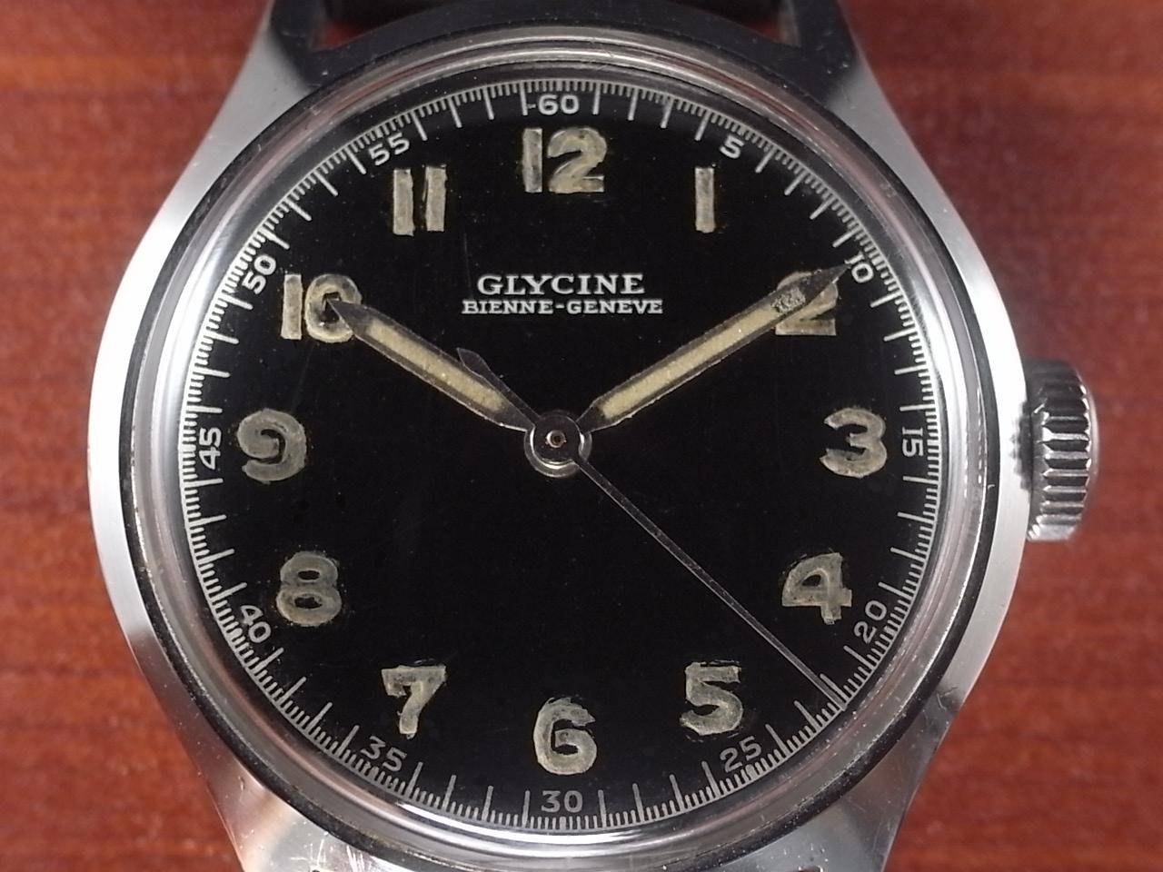 グリシン ブラックミラーダイアル センターセコンド スクリューバック 1950年代の写真2枚目