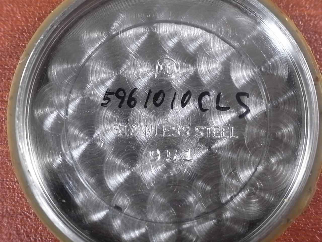 グリシン ブラックミラーダイアル センターセコンド スクリューバック 1950年代の写真6枚目
