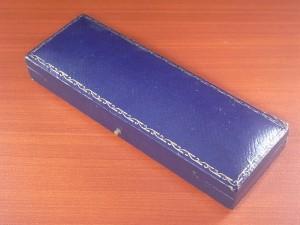 J.W.ベンソン アンティーク 箱 ウォッチボックス ネイビー 1940年代