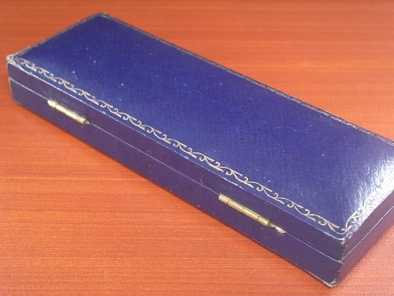 J.W.ベンソン アンティーク 箱 ウォッチボックス ネイビー 1940年代の写真4枚目