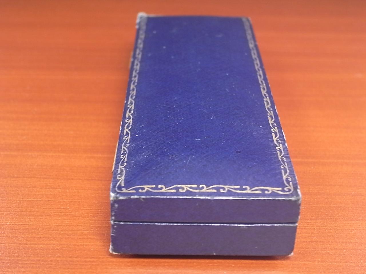 J.W.ベンソン アンティーク 箱 ウォッチボックス ネイビー 1940年代の写真6枚目