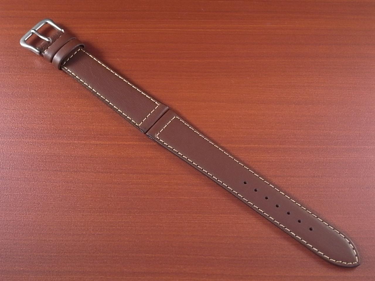 カーフ革ベルト 赤茶 18mm オリジナル CC-003のメイン写真